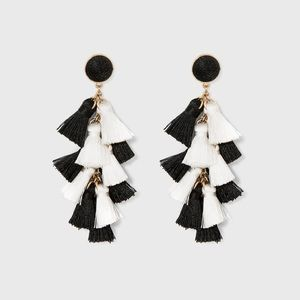 NWT Sugarfix Baublebar multi tassel drop earrings